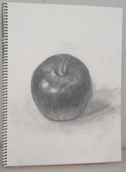 名無し りんご 鉛筆デッサン