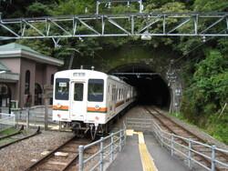大嵐駅で IMG_3997
