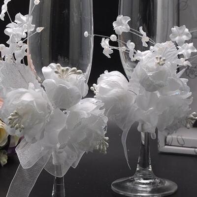 送料無料2-ピース新しい結婚式乾杯フルート-シャンパン-メガネ-シャンパン-フルート結婚式の装飾ウェディング用品