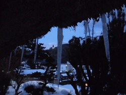 氷柱と安賀集落
