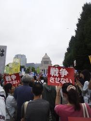 国会抗議行動8-30a