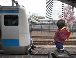 京浜東北線に小便@2014.4.JPG