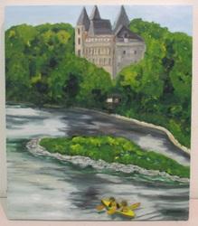 S.T ベルギーの古城 F10油彩