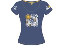 14オフィシャルTシャツレディースブルー