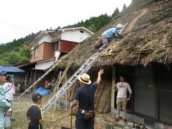 屋根の補修見学