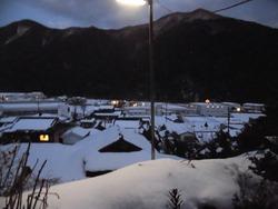安賀集落の雪景色