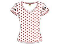 10オフィシャルTシャツレディース赤水玉