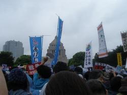 国会前抗議行動8-30Ⅱ