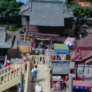歩道橋から神社を見て(A shurine)