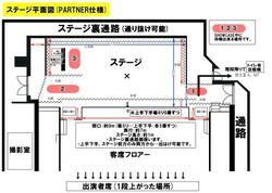 ステージ平面図(PARTNER仕様)