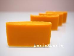 橙色の石けん レッドパーム石けん