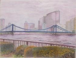雨あがりの清洲橋N.natsuko