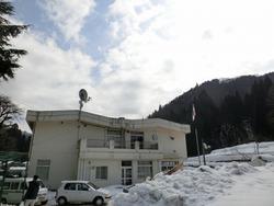 道谷小雪景色