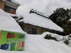 夢庵が雪の中